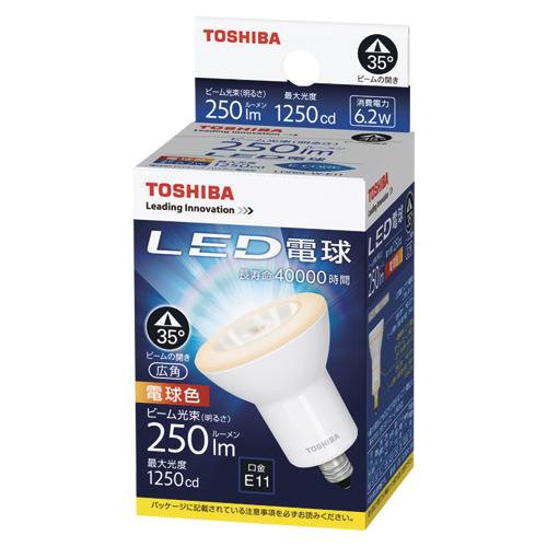 【まとめ買い10個セット品】E-CORE[イー・コア] LED電球 ハロゲン電球形 広角タイプ 全光束420lm LDR6L-W-E11 1個 東芝 【メーカー直送/代金引換決済不可】【開業プロ】