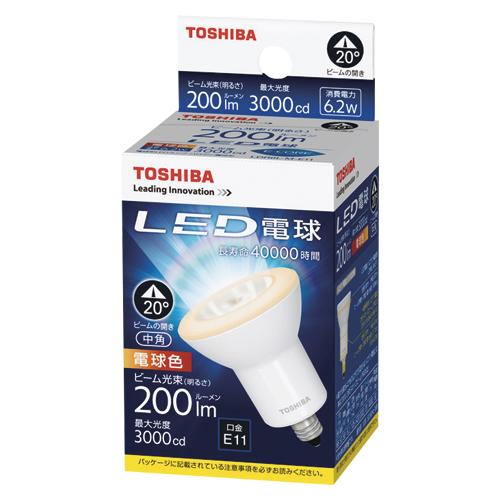 【まとめ買い10個セット品】E-CORE[イー・コア] LED電球 ハロゲン電球形 中角タイプ 全光束420lm LDR6L-M-E11 1個 東芝 【メーカー直送/代金引換決済不可】【開業プロ】