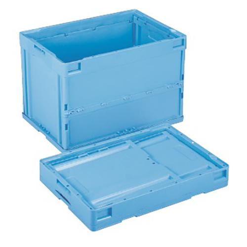 【まとめ買い10個セット品】 折りたたみコンテナー フタなし/青 CB-S61NR(ブルー) 【メイチョー】