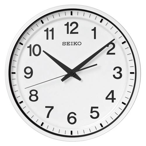 【まとめ買い10個セット品】衛星電波掛時計 GP214W 1個 セイコー 【メーカー直送/代金引換決済不可】【開業プロ】