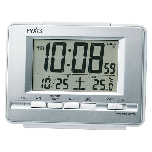 【まとめ買い10個セット品】 置時計 電波時計 電波デジタル目覚まし時計 NR535W 【メイチョー】