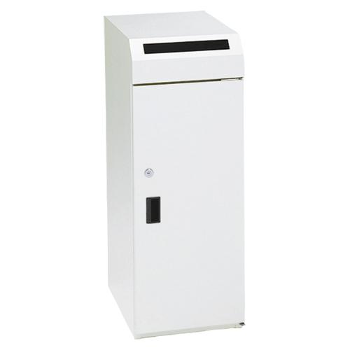 【まとめ買い10個セット品】 機密書類回収ボックス 大タイプ KIM-S-9 ネオホワイト 【メイチョー】