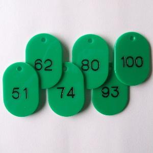 【まとめ買い10個セット品】番号札 小判型・スチロール製 番号入(連番) CR-BG42-G 緑 50枚1セット クラウン【 事務用品 名札 番号札 番号札 】【開業プロ】