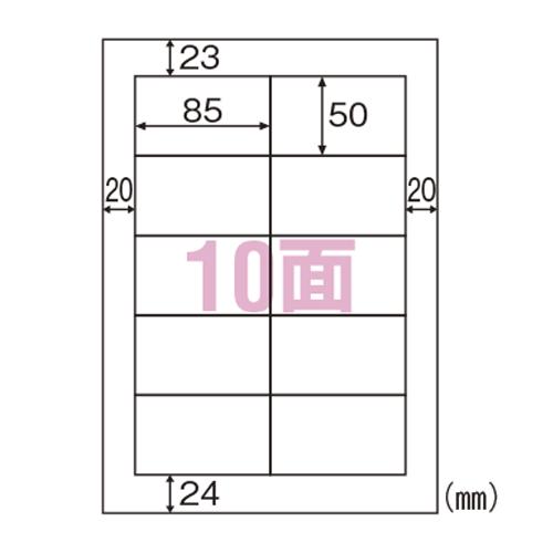 【まとめ買い10個セット品】エコノミーラベル A4判 100枚入 ELM016 100枚 ヒサゴ【開業プロ】
