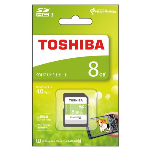 【まとめ買い10個セット品】SDHC/SDXCメモリーカード SDAR40N08G 1枚 東芝【開業プロ】