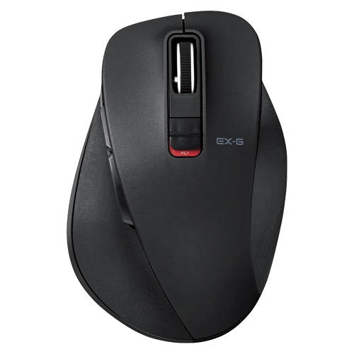 【まとめ買い10個セット品】5ボタンワイヤレス Bluetooth3.0 BlueLEDマウス 握りの極み M-XGM10BBBK ブラック 1個 エレコム【開業プロ】
