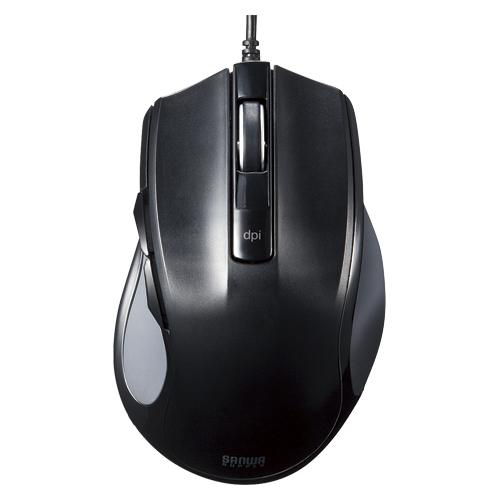 【まとめ買い10個セット品】有線ブルーLEDマウス MA-BL11BK ブラック 1個 サンワサプライ【開業プロ】