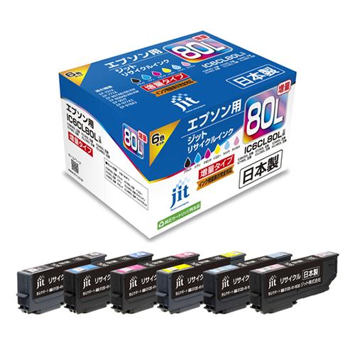【まとめ買い10個セット品】インクジェットカートリッジ JIT-AE80L6P 1セット ジット【開業プロ】