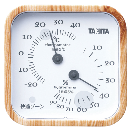 【まとめ買い10個セット品】温湿度計 TT-570NA ナチュラル 1個 タニタ【開業プロ】