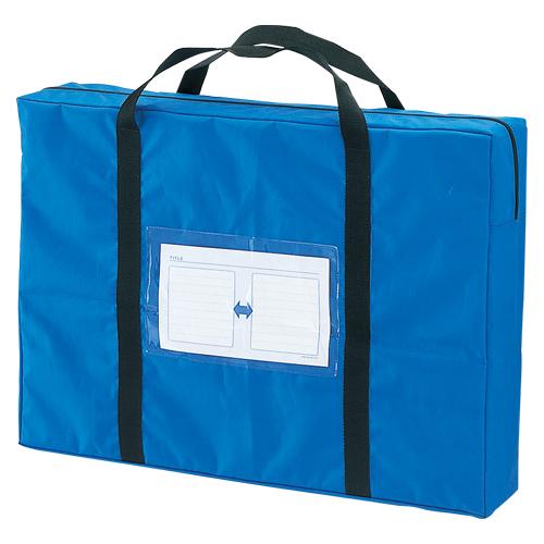 【まとめ買い10個セット品】メールバッグ A2 メールバッグビッグ CR-ME90-BL ブルー 1個 クラウン【 ファイル ケース ケース バッグ メールバッグ 】【開業プロ】