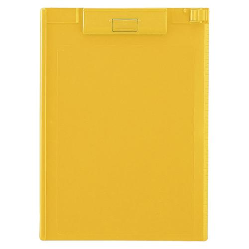 crw-49910 まとめ買い10個セット品 クリップボード 秀逸 ABS製 黄 A4判タテ型 メイチョー 人気 おすすめ A-977U-5