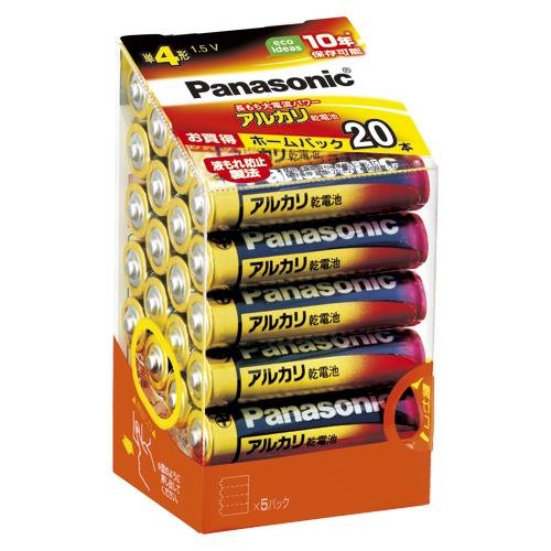 【まとめ買い10個セット品】アルカリ乾電池 パナソニックアルカリ(金) お買得ホームパック LR03XJ/20SH 20本 パナソニック【 生活用品 家電 電池 照明 家電 アルカリ乾電池 】【開業プロ】