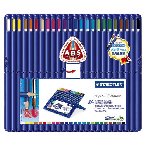 【まとめ買い10個セット品】ステッドラーエルゴソフトアクェレル水彩色鉛筆 156 SB24 1セット ステッドラー【 事務用品 デザイン用品 画材 水彩色鉛筆 】【開業プロ】