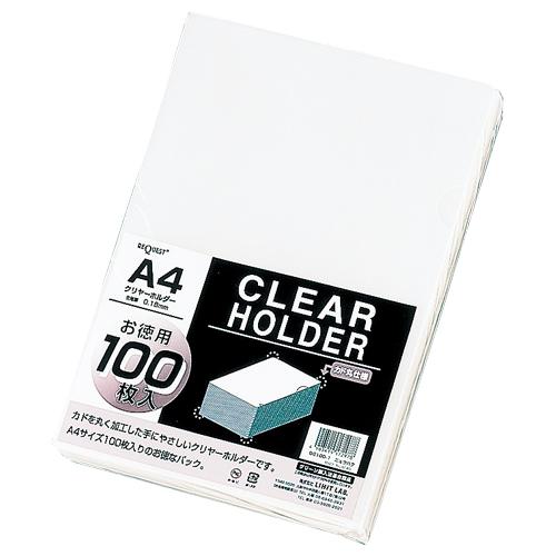 【まとめ買い10個セット品】 リクエスト・クリヤーホルダー 100枚入 A4判 G6100-1 乳白 【メイチョー】