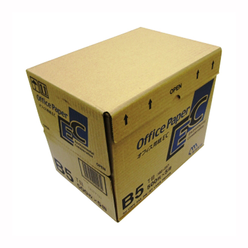 【まとめ買い10個セット品】日本製紙 オフィス用紙 オフィスEC B5 500枚×5冊 日本製紙【 PC関連用品 OA用紙 コピー用紙 】【開業プロ】