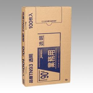 【まとめ買い10個セット品】メタロセン配合ポリ袋100枚BOX 透明ポリ袋(100枚入) TN93 100枚 ジャパックス【 生活用品 家電 ゴミ箱 日用雑貨 ゴミ袋 】【開業プロ】