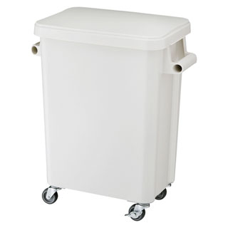【まとめ買い10個セット品】リス 厨房用キャスターペール・排水栓付 45L GGYK001【開業プロ】