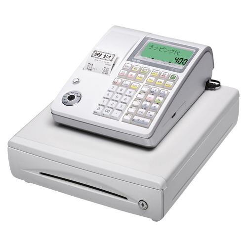 カシオ レジスター 1シート SDメモリーカード対応 TE-400-WE ホワイト 【 メーカー直送/代引不可 】 【メイチョー】