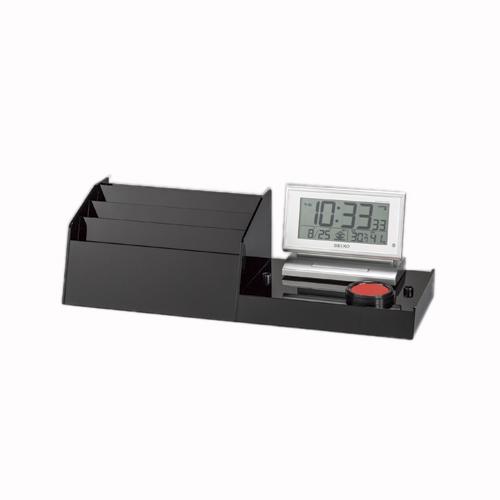 記載台 専用オプション(伝票ケース・デジタル時計) KDO-DC-S ブラック 【メイチョー】