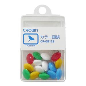 画鋲 カラー画鋲 CR-GB128-X 赤、青、緑、黄、白各4本 色込 【メイチョー】
