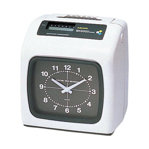 アマノ 電子タイムレコーダー BX-6000 BX-6000 シロ 【メイチョー】, ジーンズショップヤマト 93f52d85