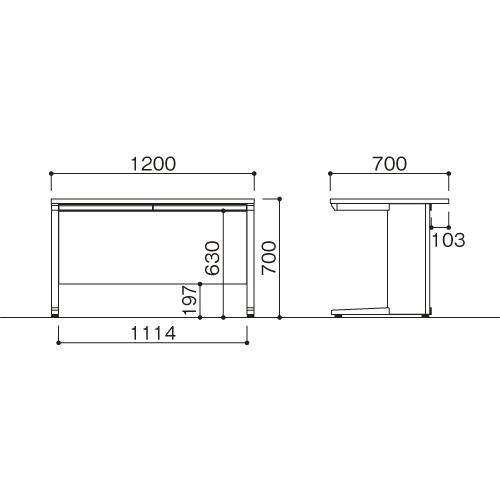 平机 W1200 LDC-H127(NA) ナチュラル/ホワイト 【メイチョー】