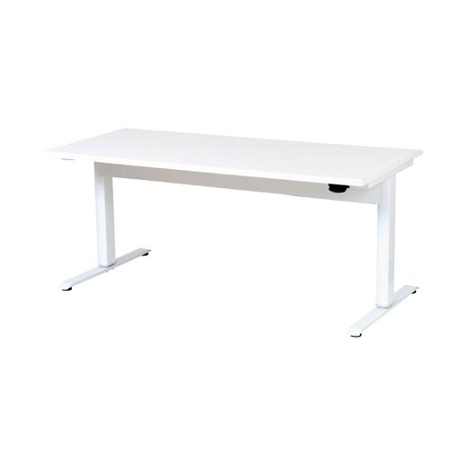 昇降テーブル W1500 LTC-L1575(WH) ホワイト/ホワイト 【メイチョー】