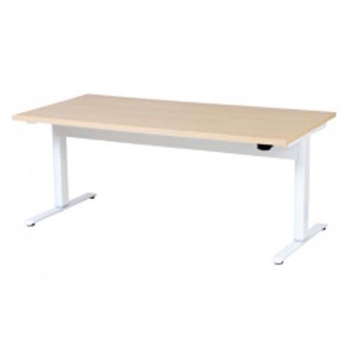 昇降テーブル W1800 LTC-L1890(NA) ナチュラル/ホワイト 【メイチョー】