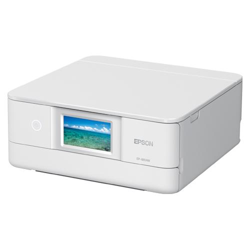 エプソン インクジェットプリンター colorio EP-881AW ホワイト 【メイチョー】