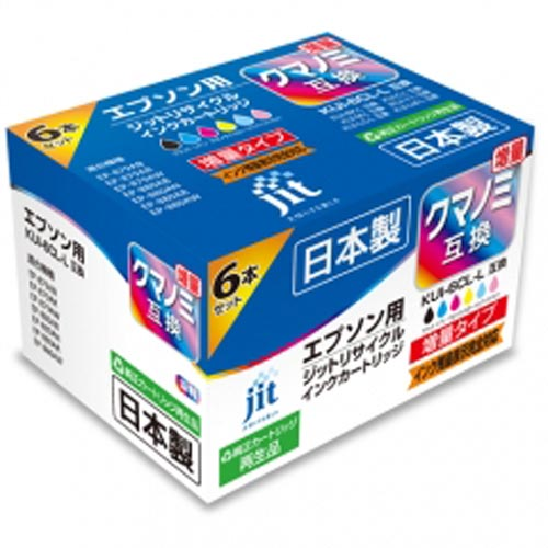 ジット インクジェットカートリッジ JIT-EKUIL6P 【メイチョー】