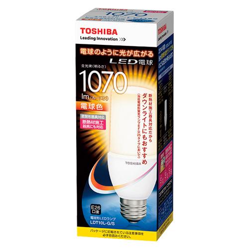 東芝 LED電球 T形 E26 100W 電球色 LDT10L-G/S デンキュウショク 【メイチョー】