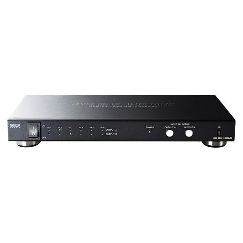 サンワサプライ HDMI切替器 6入力2出力 マトリックス切替機能付き SW-UHD62 【メイチョー】