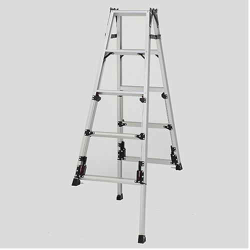 ピカコーポレイション 四脚アジャスタ式はしご兼用脚立 上部操作タイプ SCN-150A 【メイチョー】