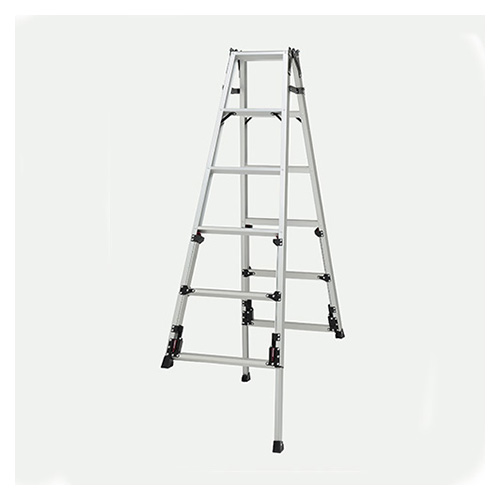 ピカコーポレイション 四脚アジャスタ式はしご兼用脚立 上部操作タイプ SCN-180A 【メイチョー】
