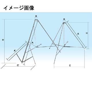 旗(付属品) 三脚台・クロームメッキ(鉄製) 直送品 別発送品