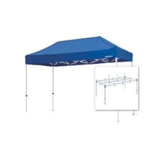 テント複合タイプ:支柱(スチール)・桁フレーム(アルミ)白粉体塗装 C 直送品 別発送品