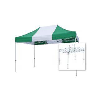 テント複合タイプ:支柱(スチール)・桁フレーム(アルミ)白粉体塗装 E 直送品 別発送品