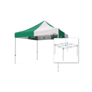 テント複合タイプ:支柱(スチール)・桁フレーム(アルミ)白粉体塗装 G 直送品 別発送品