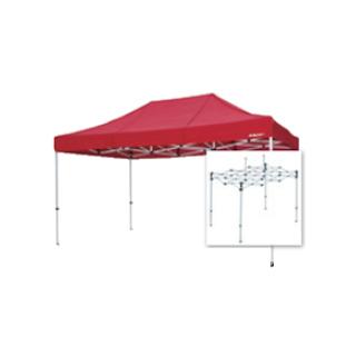テント複合タイプ:支柱(スチール)・桁フレーム(アルミ)白粉体塗装 H 直送品 別発送品