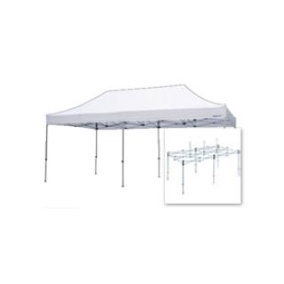 テント複合タイプ:支柱(スチール)・桁フレーム(アルミ)白粉体塗装 J 直送品 別発送品