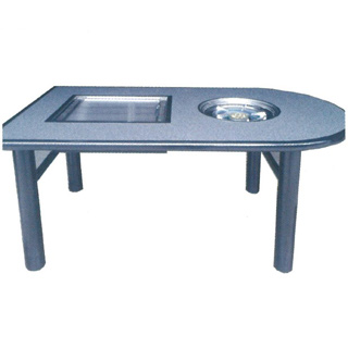 鉄板焼ユニット+鍋物ユニット KD-1450GS 1450×800×700 4~6人掛け メイチョー【 メーカー直送/後払い決済不可 】