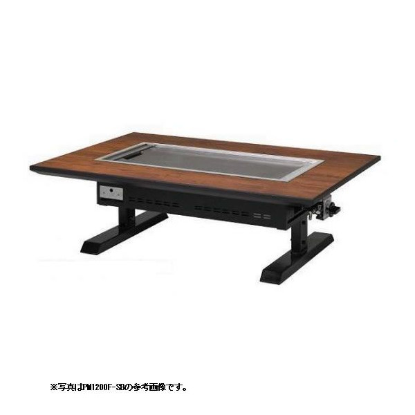 お好み焼きテーブル 9mm鉄板 6人掛 スチール脚和卓 1550×800×330 【 メーカー直送/代引不可 】 メイチョー