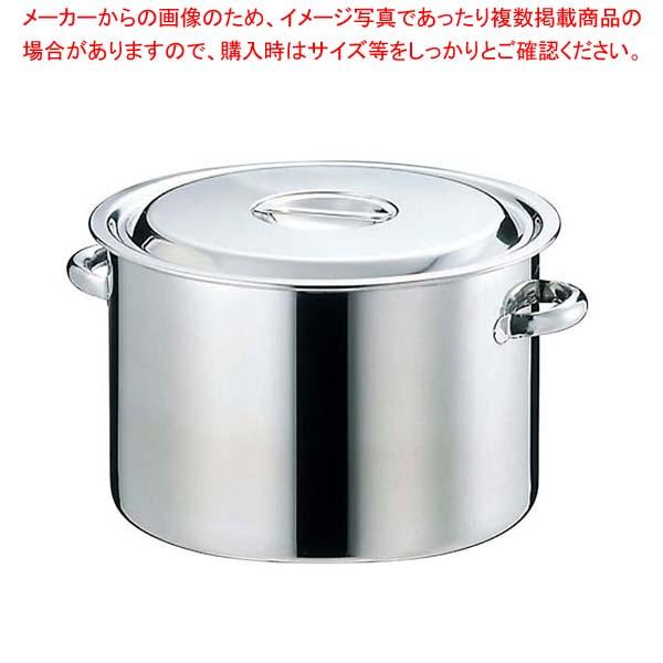 【まとめ買い10個セット品】EBM 18-8 半寸胴鍋(目盛付)39cm 手付【 ガス専用鍋 】 【メイチョー】