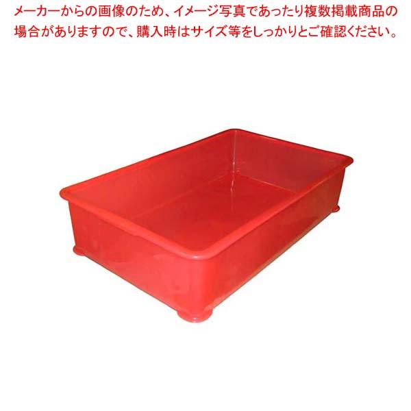 【まとめ買い10個セット品】 EBM PP半透明カラー番重 A型 特大 レッド(サンコー製) メイチョー