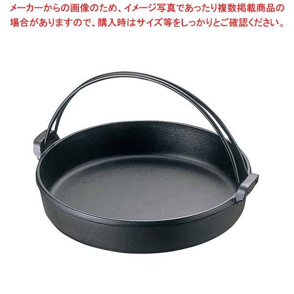 【まとめ買い10個セット品】南部 鉄 すきやき鍋 ツル付 24cm 20038【 卓上鍋・焼物用品 】 【メイチョー】