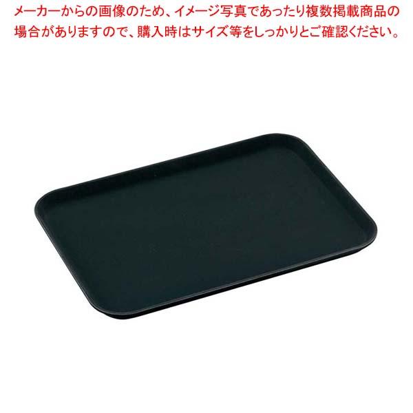 【まとめ買い10個セット品】 キャンブロ ノンスリップトレイ長角 1622CT(110)ブラック メイチョー