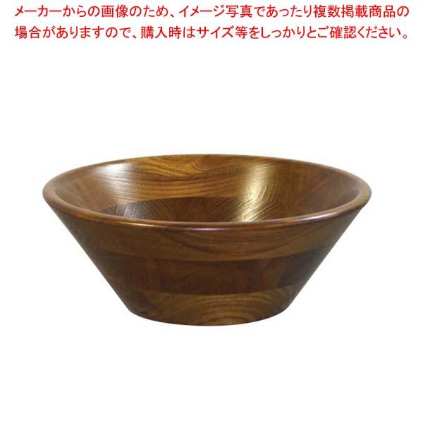 【まとめ買い10個セット品】 けやき サラダボール(オイルカラー)130003 φ255 メイチョー