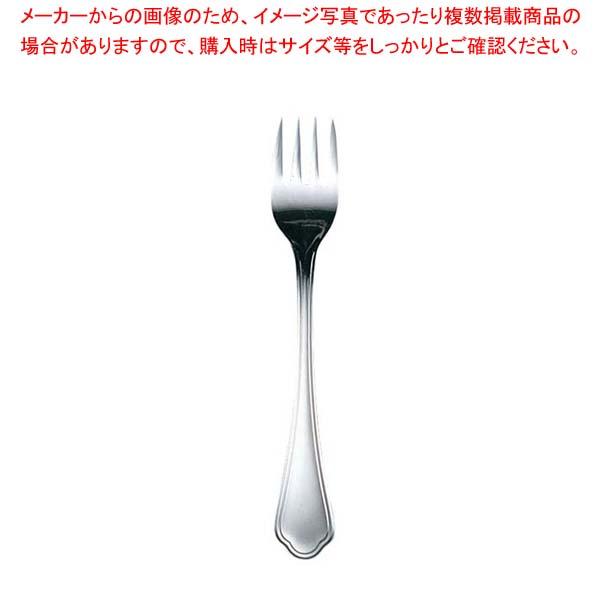 【まとめ買い10個セット品】EBM 洋白 シェルブール(銀メッキ付)サラダフォーク【 カトラリー・箸 】 【メイチョー】