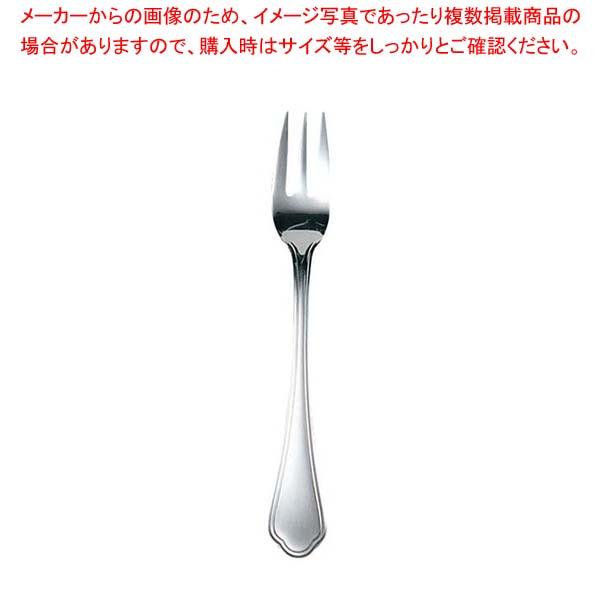 【まとめ買い10個セット品】EBM 洋白 シェルブール(銀メッキ付)フルーツフォーク(S・H)【 カトラリー・箸 】 【メイチョー】