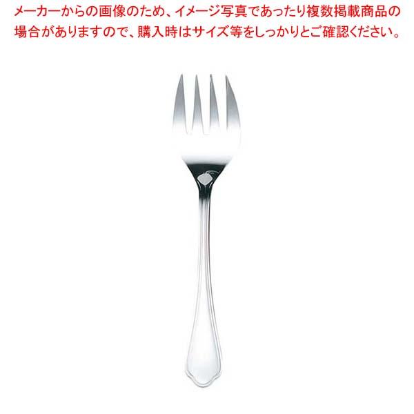 【まとめ買い10個セット品】 EBM 洋白 シェルブール(銀メッキ付)サービスフォーク sale 【20P05Dec15】 メイチョー